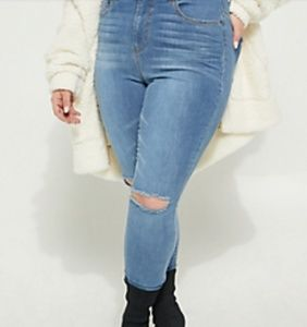 2a626ed5dc8 Rue21 Jeans - Plus Size Rue21 Uber High Rise Ripped Knee Jegging
